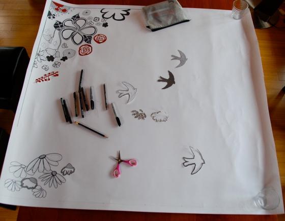 doodle, large scale art