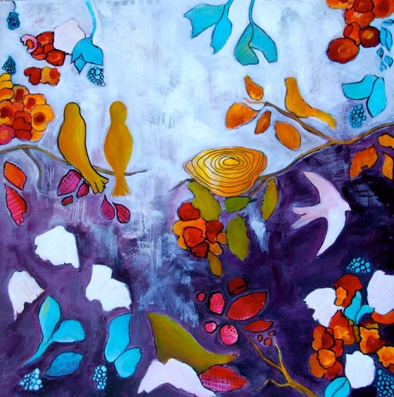intuitive painting, workshop, flora bowley