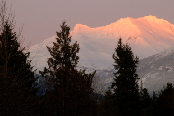 Whislter, wedge mountain, alpenglow