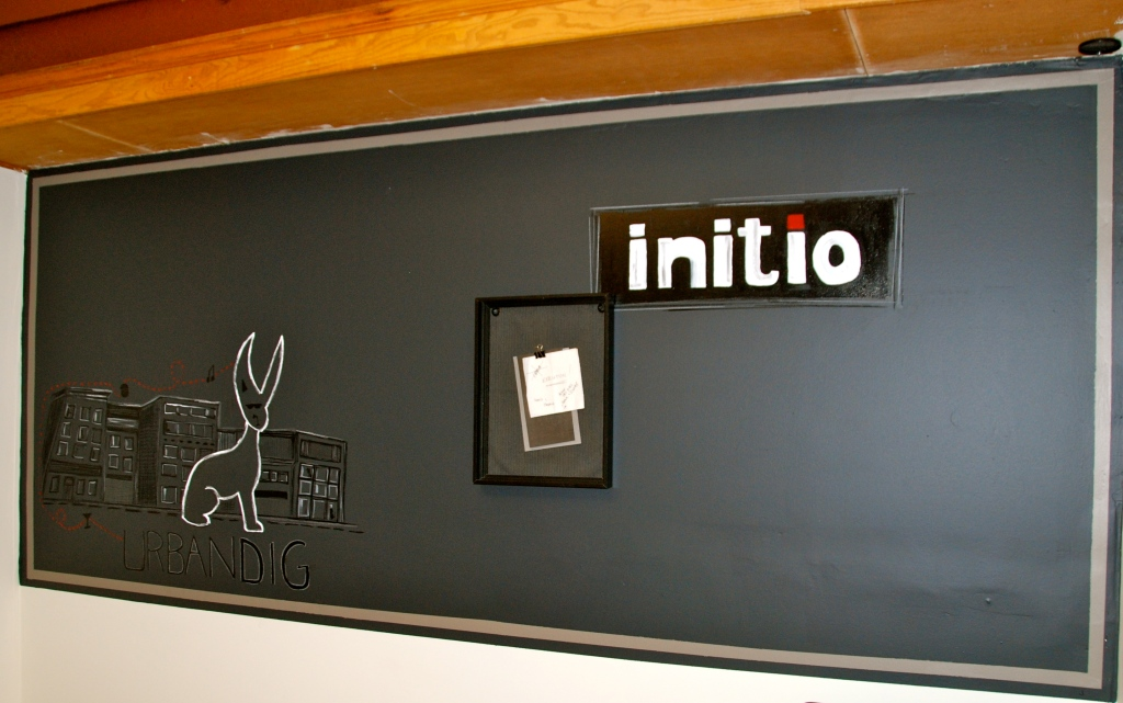 blank chalkboard, paint, initio group