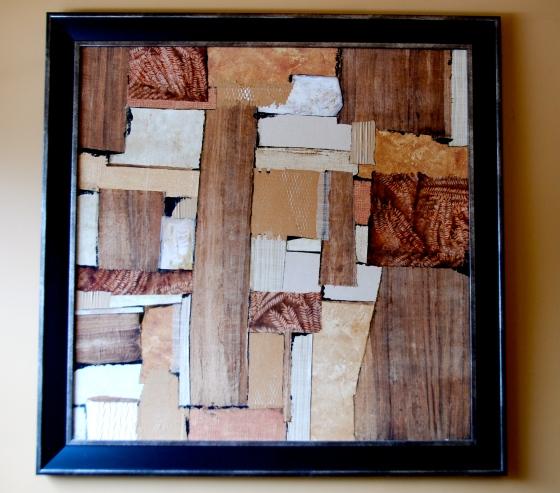 handmade paper collage