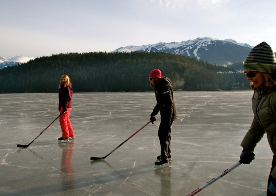 alta lake, whistler, skating, blackcomb mountain