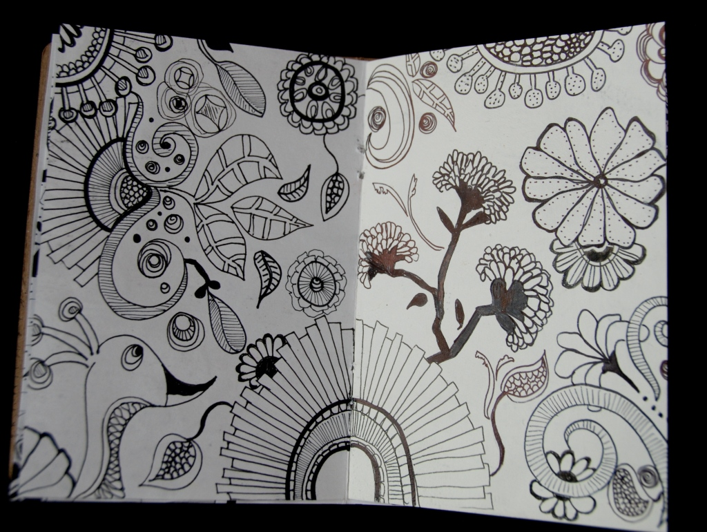 Sketchbook project, Brooklyn Art Library, pen and ink, doodle