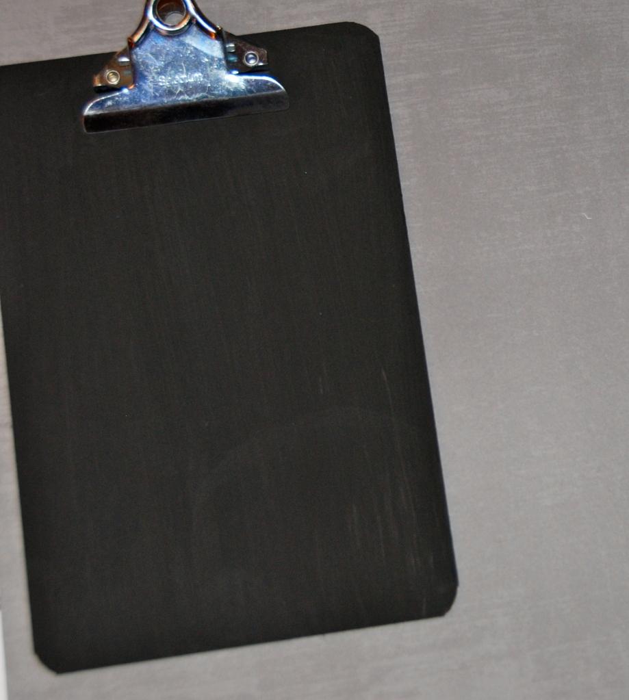 chalk board paint, clipboard