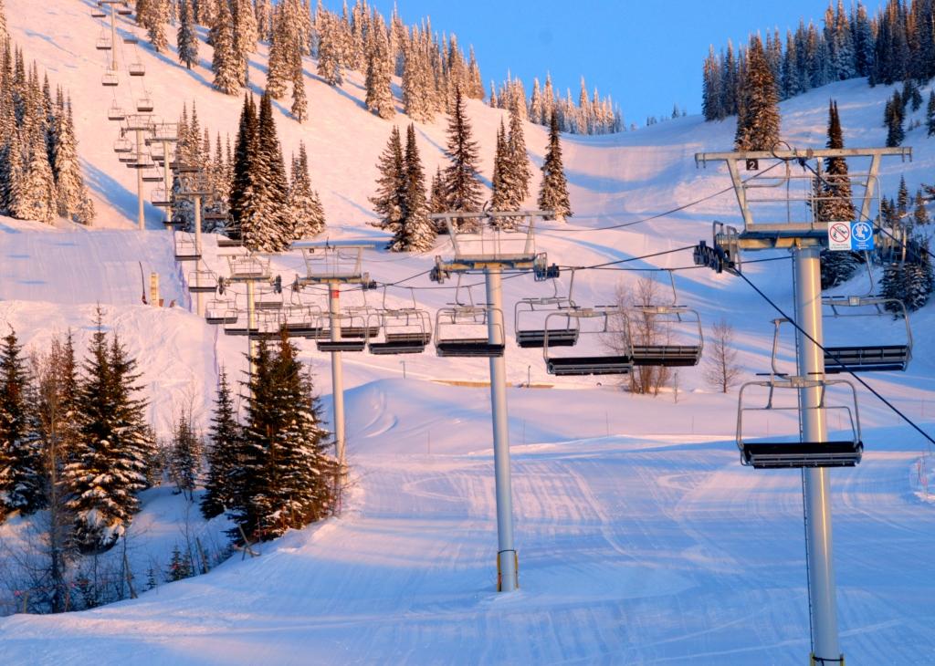 Silverstar Mountain, ski village, Vernon B.C. Alpine meadows chairlift
