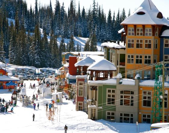 Silverstar Mountain, ski village, Vernon B.C.
