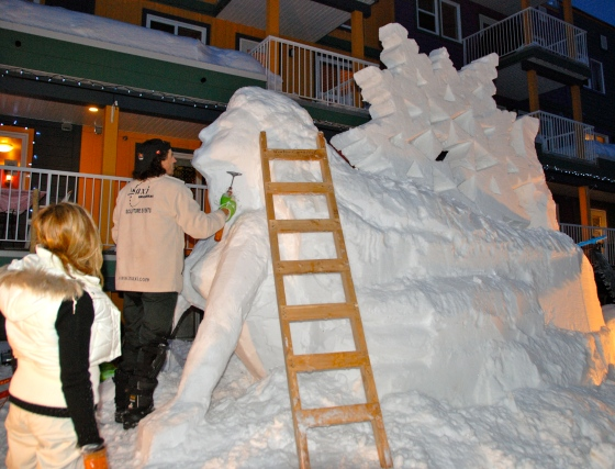 Silverstar Mountain, ski village, Vernon B.C. Ice sculptures