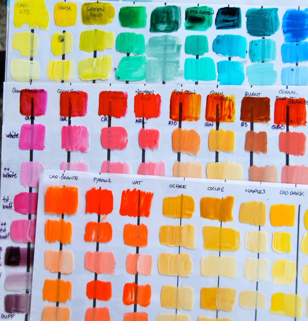 mixing paint, mixing color, acrylic, paint, art tutorial