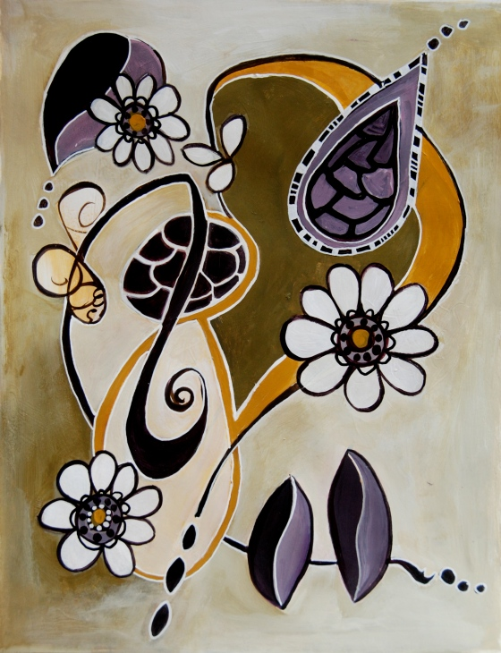 intuitive painting, creative everyday, ink,paper, mark making