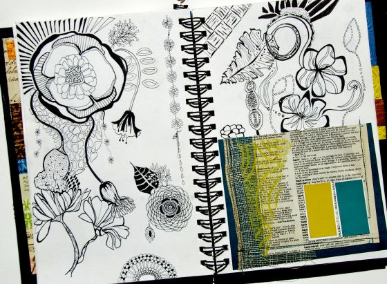 art, journal,doodle