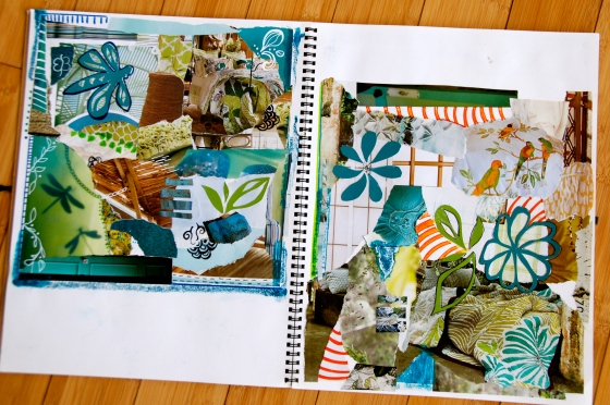 art, journal, collage