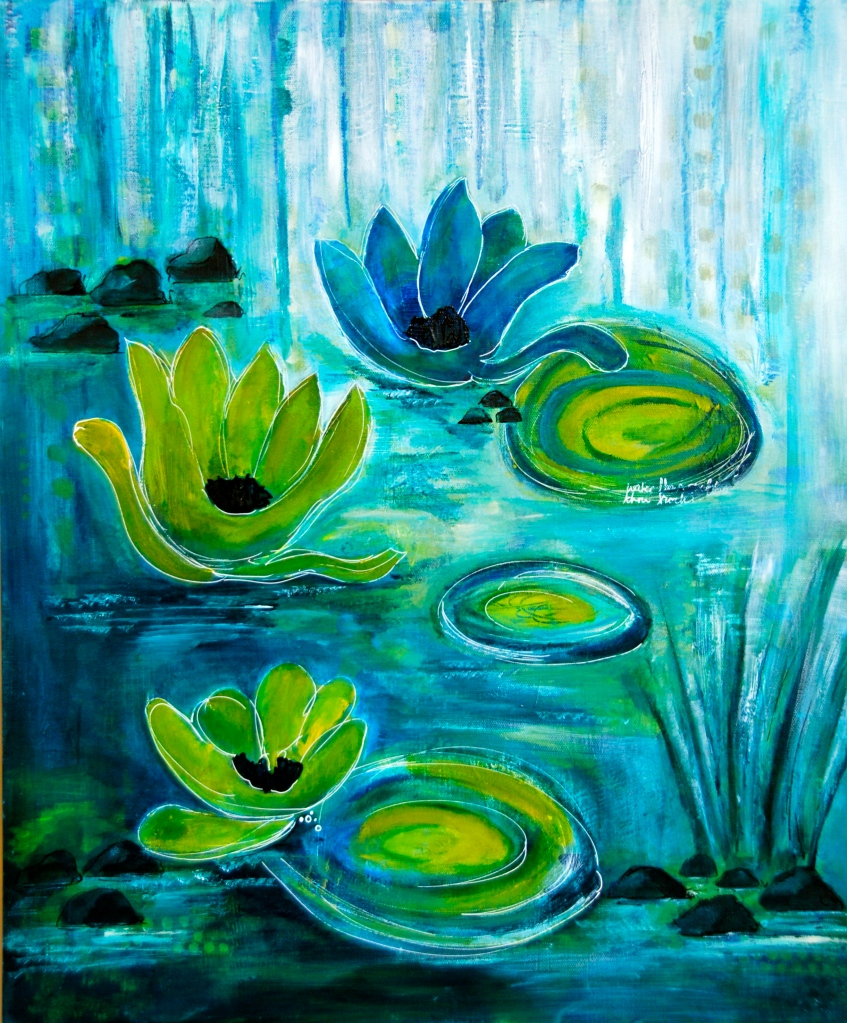 wayerlily, art,intuitive painting