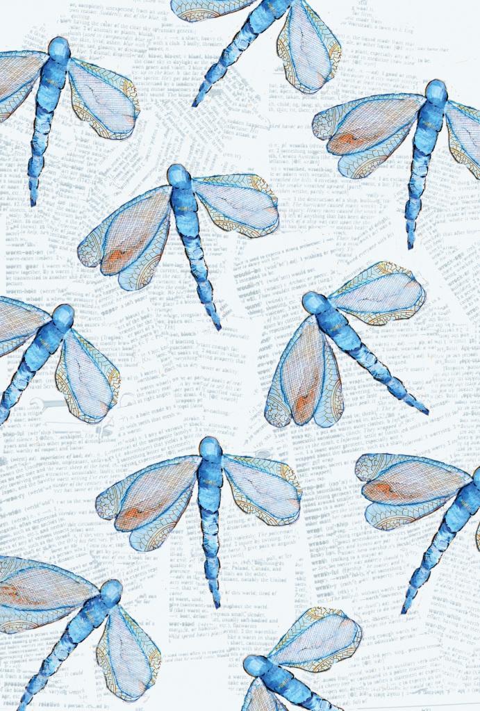 Photoshop, surface pattern design, dragonfly, artwork