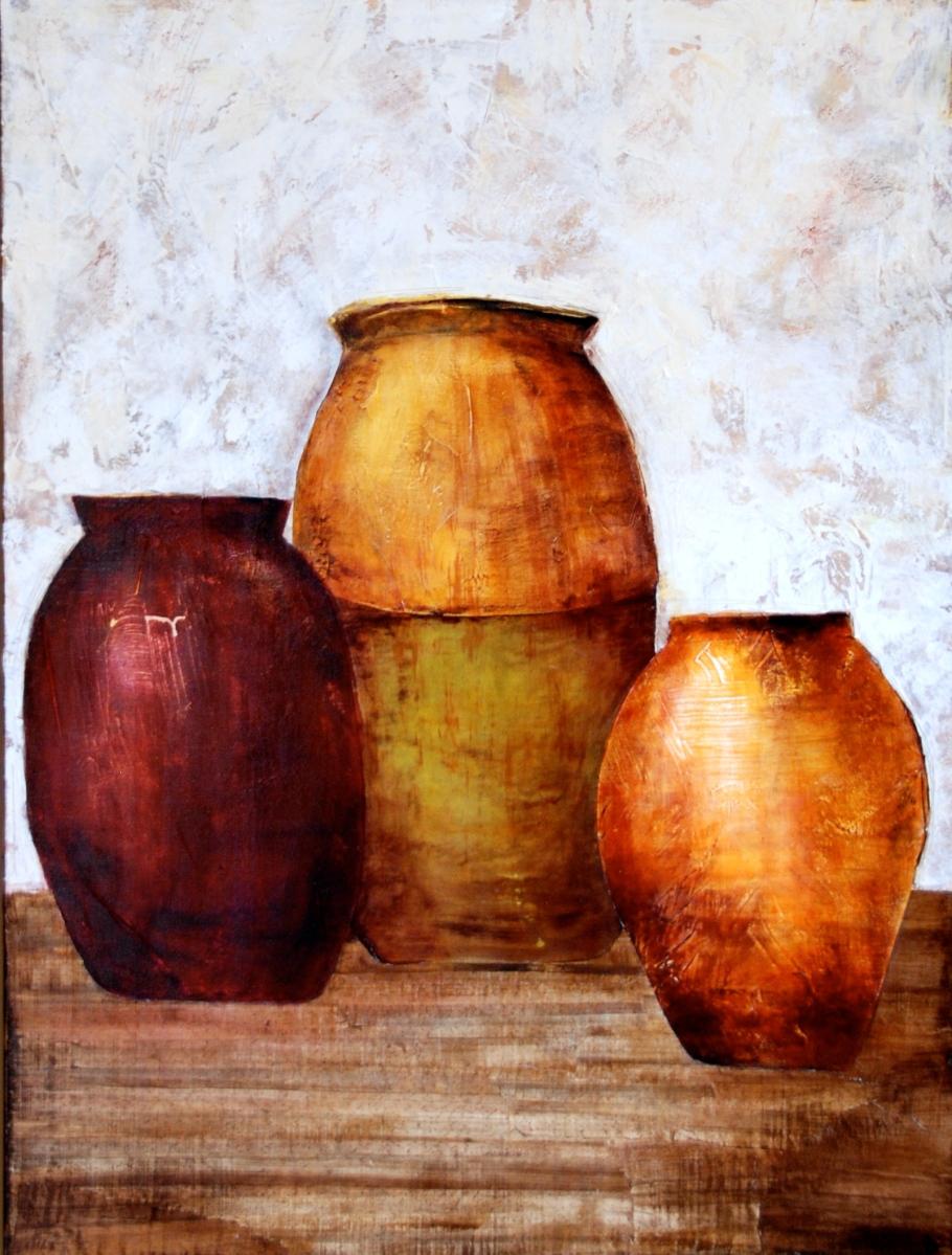 mix media, acrylic paint, canvas, art, texture, olive jars earth toned