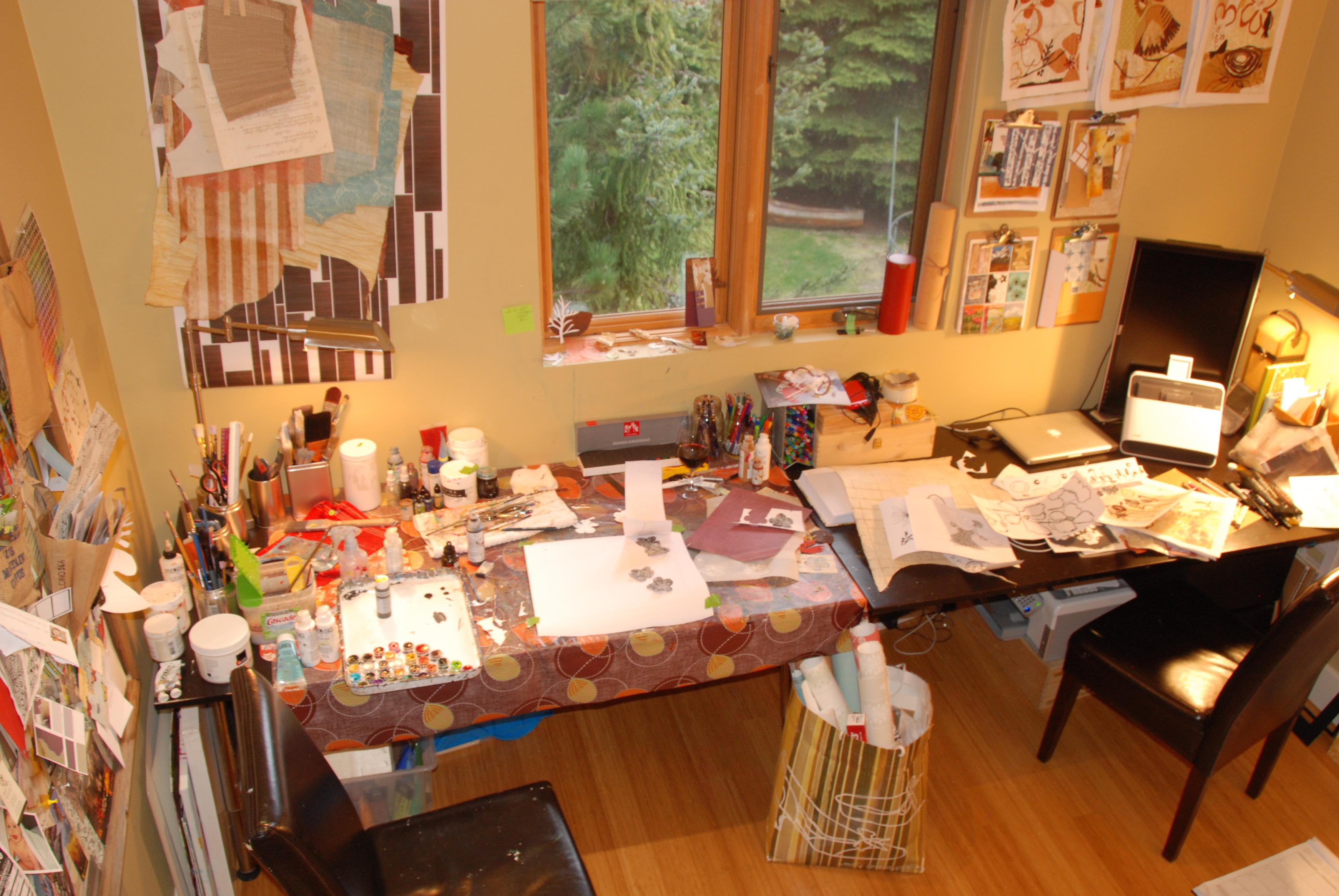 Art Studio Painting Mixed Media
