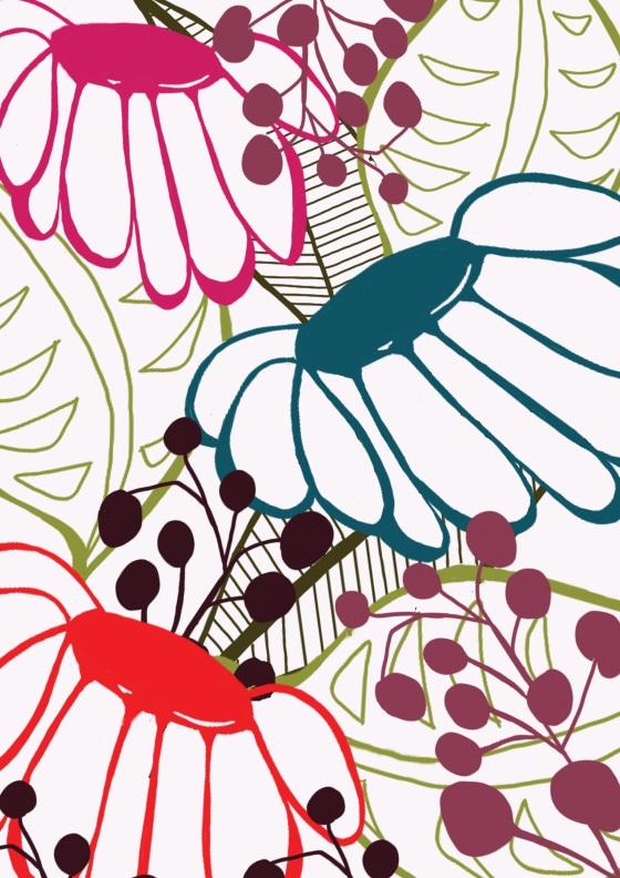 Photoshop, surface pattern design,daisy, flowers