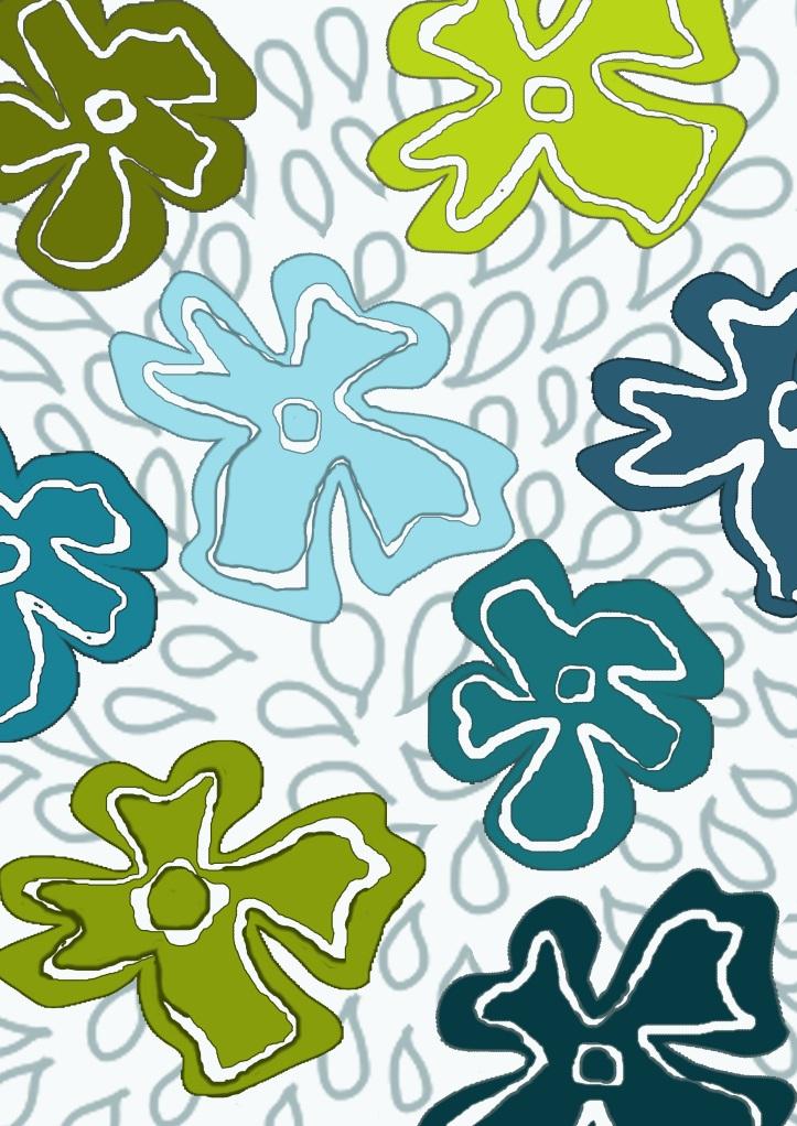 digital, photoshop, surface pattern design, daisy