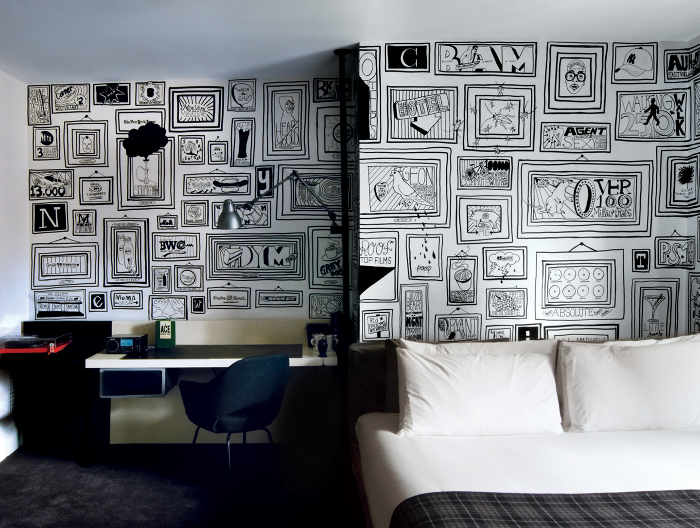 Inspired by a simple black sharpie for Ace hotel decor