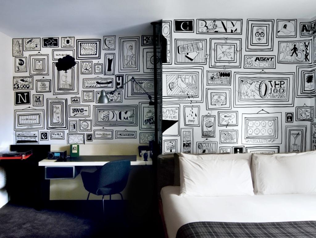 sharpie markers, ace hotel, wallpaper
