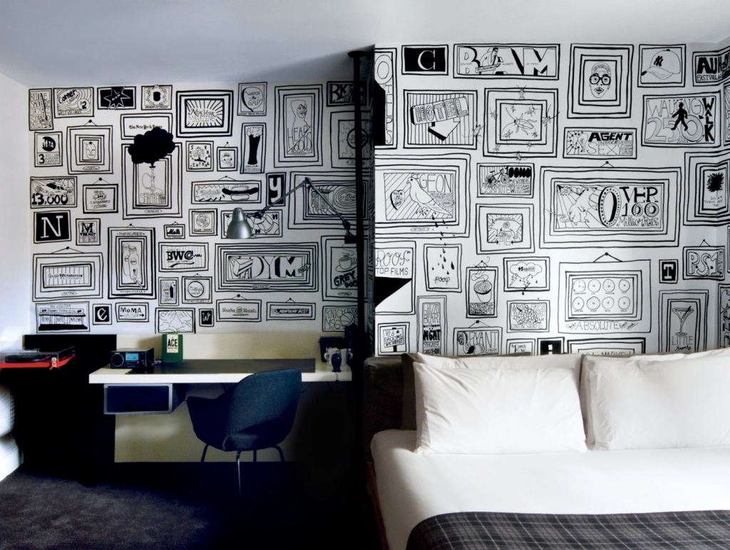 sharpie markers, ace hotel, wallpaper