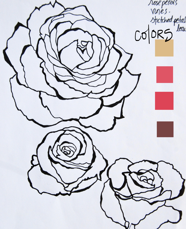Рисунок розы своими руками