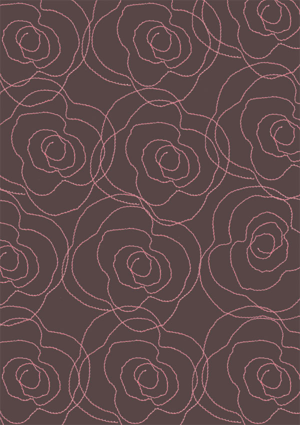 louise gale color challenge, surface pattern design, rose, red, sketch