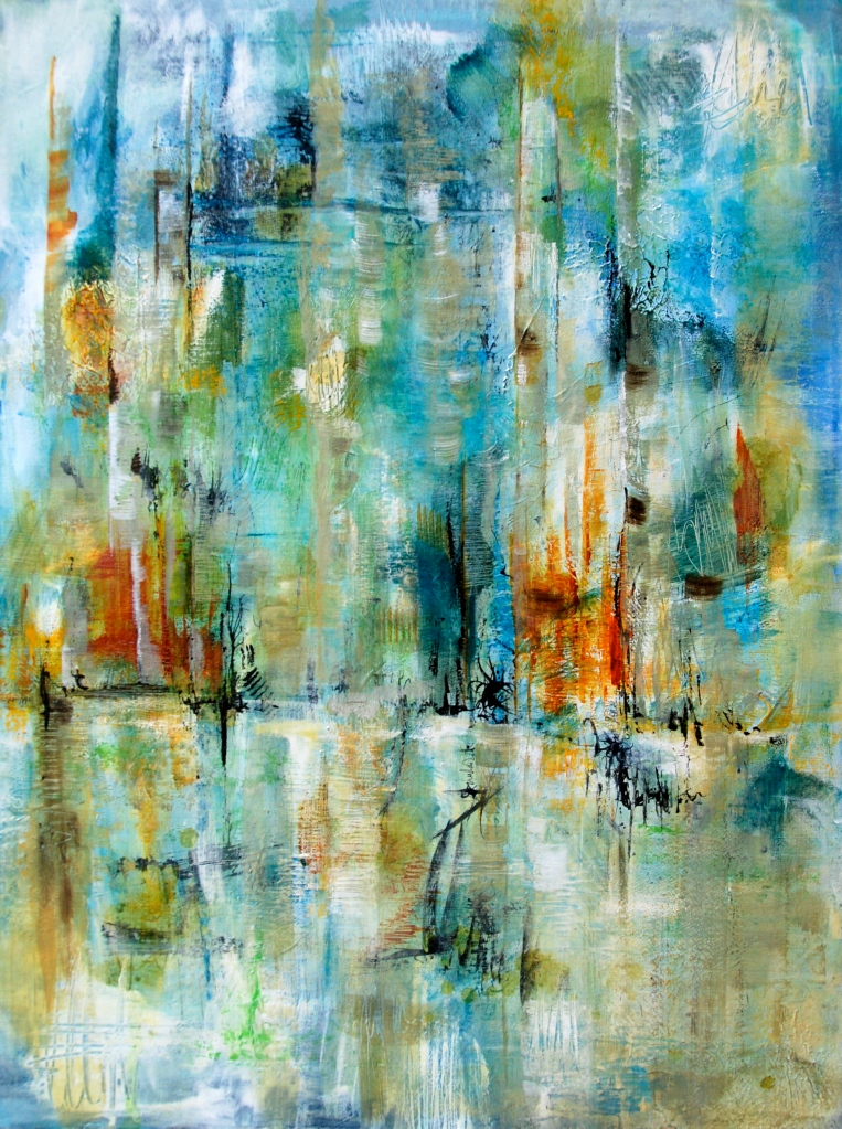 creative process, art journal, visual journal, acrylic paint