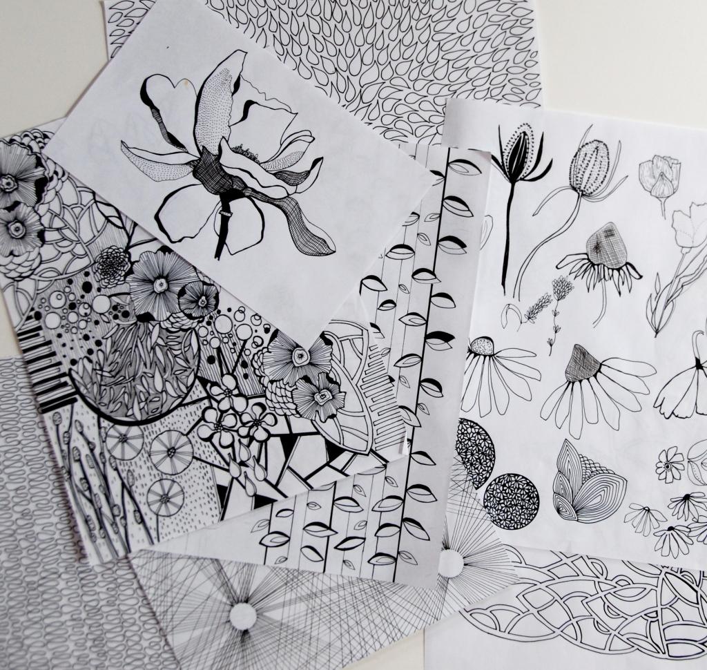 creative journey, surface pattern design, art journal
