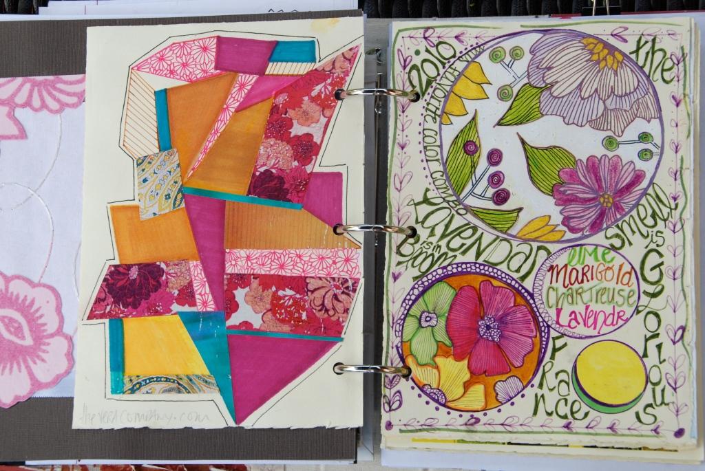 creative process, visual journal, art