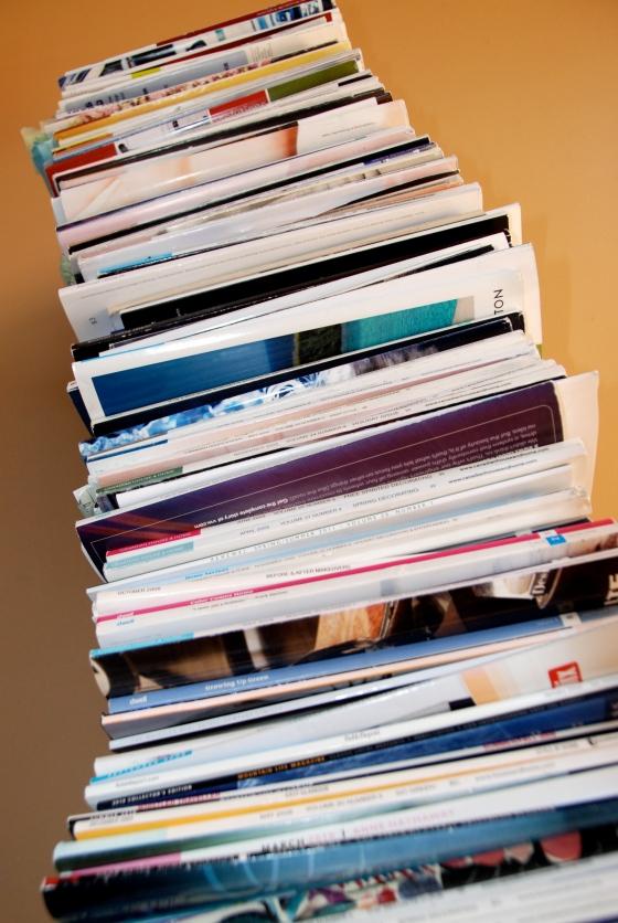 inspiration, magazine pile