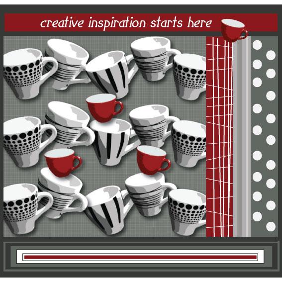 surface pattern design, julie hamilton, espresso cups
