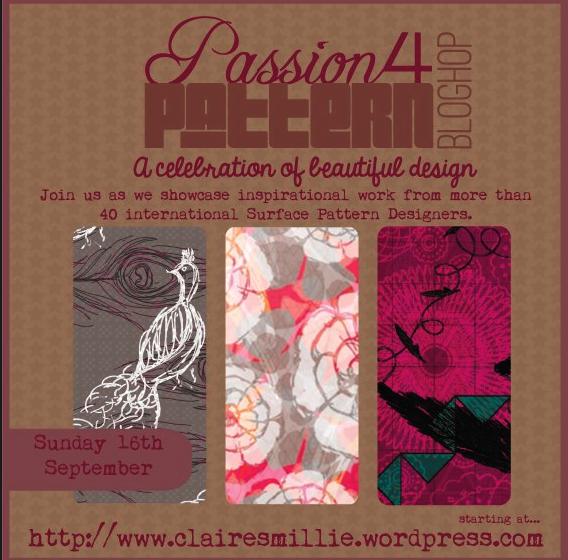 surface pattern design, julie hamilton, artistically afflicted