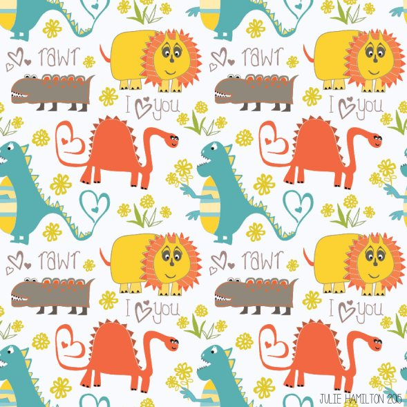 Dinosaurs say Rawr - Julie Hamilton Creative {artistically afflicted blog}
