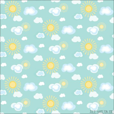 Sun and Clouds - Julie Hamilton Creative {artistically afflicted blog}