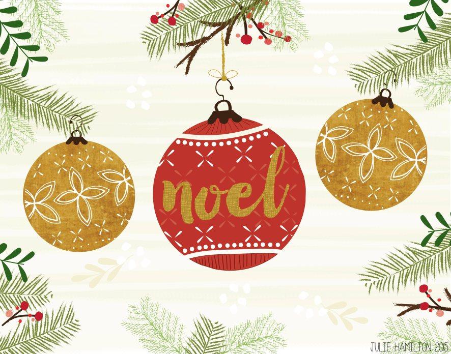 Christmas Baubles - Julie Hamilton Creative {artistically afflicted blog}