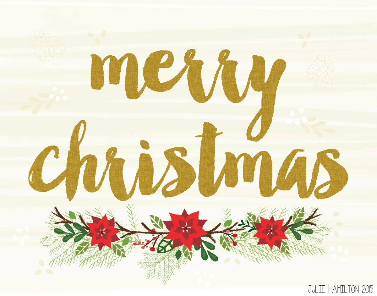 Merry Christmas - Julie Hamilton Creative {artistically afflicted blog}