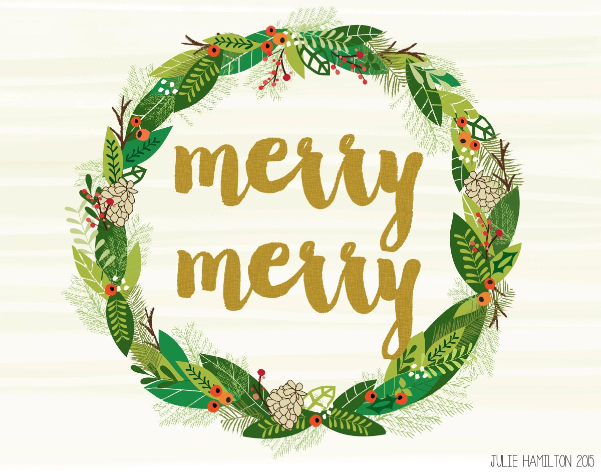 Merry Christmas - Julie Hamilton Creative {artistically afflicted blog}