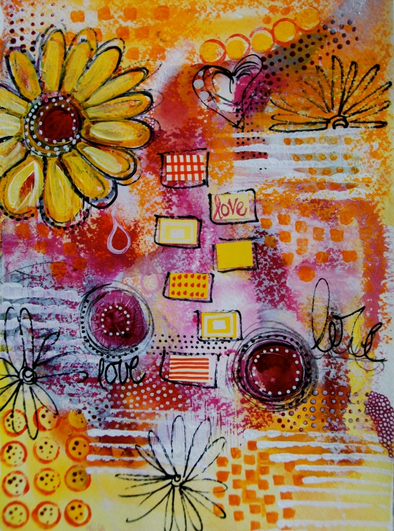art journal,mix media,mark making