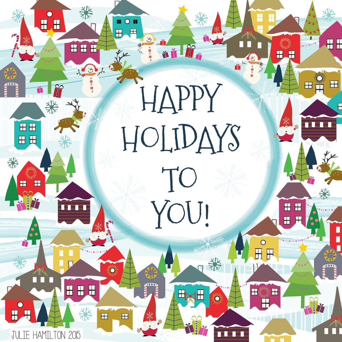 Holiday Houses - Julie Hamilton Creative {artistically afflicted blog}