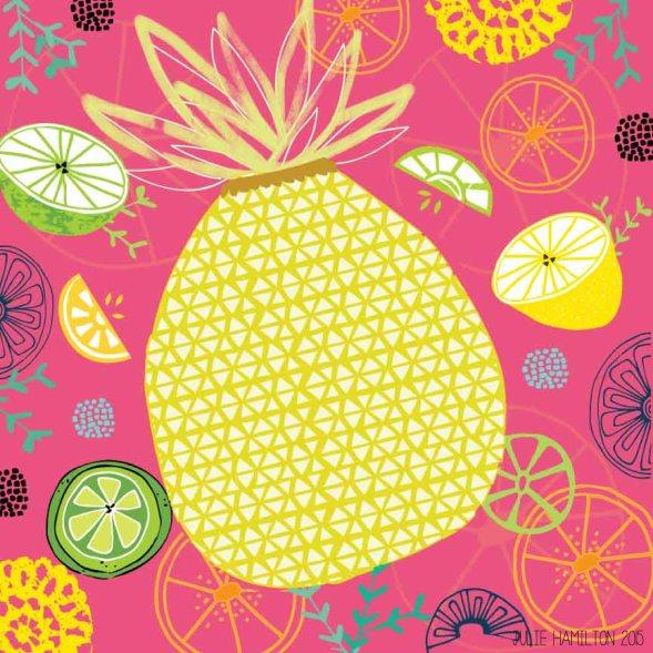 A taste of Pineapple - Julie Hamilton Creative {artistically afflicted blog}