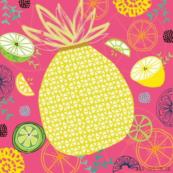 A taste of Pineapple - Julie Hamilton Creative {artistically afflicted blog}