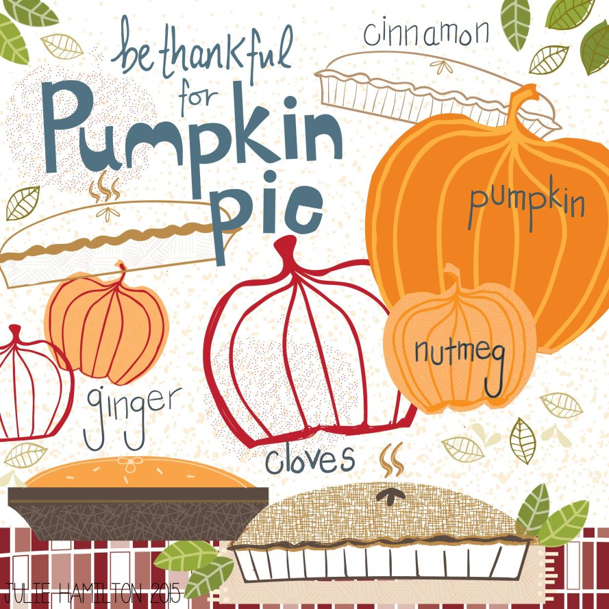 Pumpkin Pie - Julie Hamilton Creative {artistically afflicted blog}