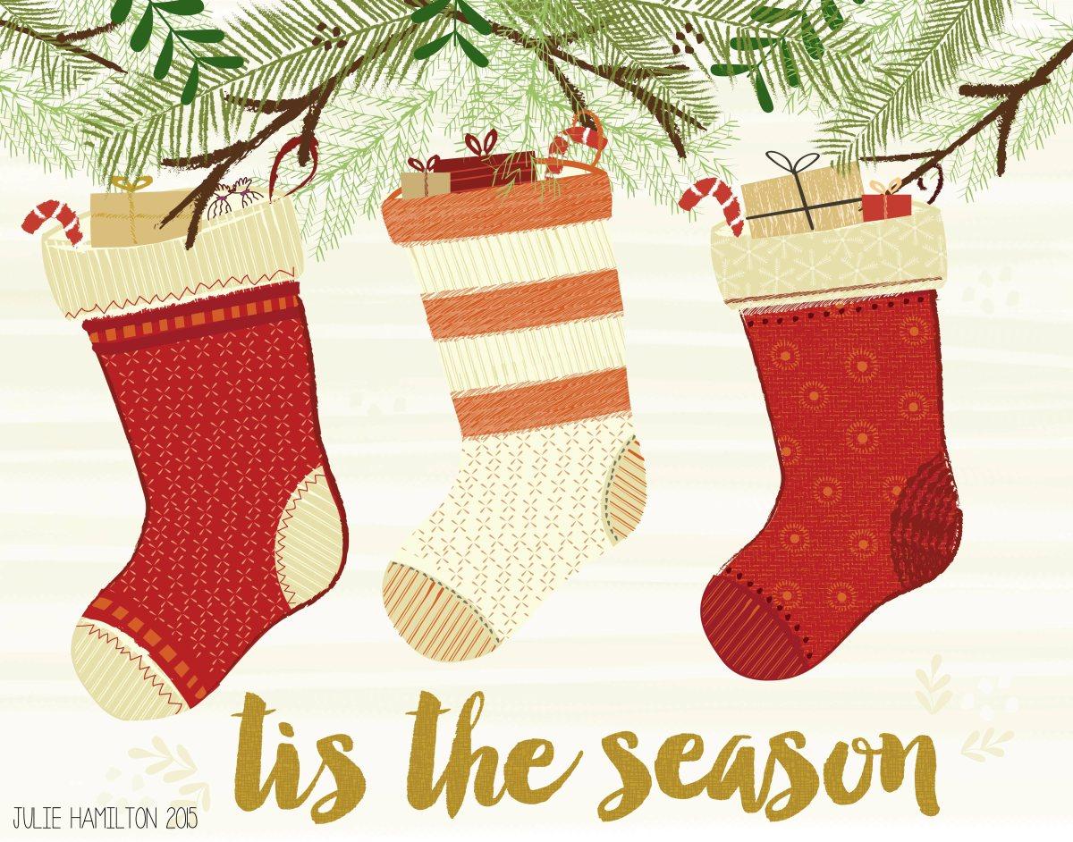 Santa Stockings - Julie Hamilton Creative {artistically afflicted blog}