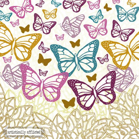 julie hamilton, artistically afflicted, surface pattern design