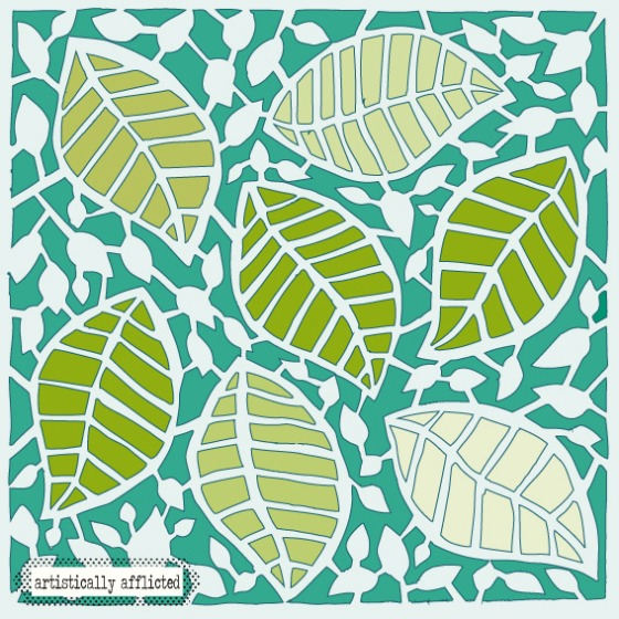 julie hamilton, surface pattern design, emerald