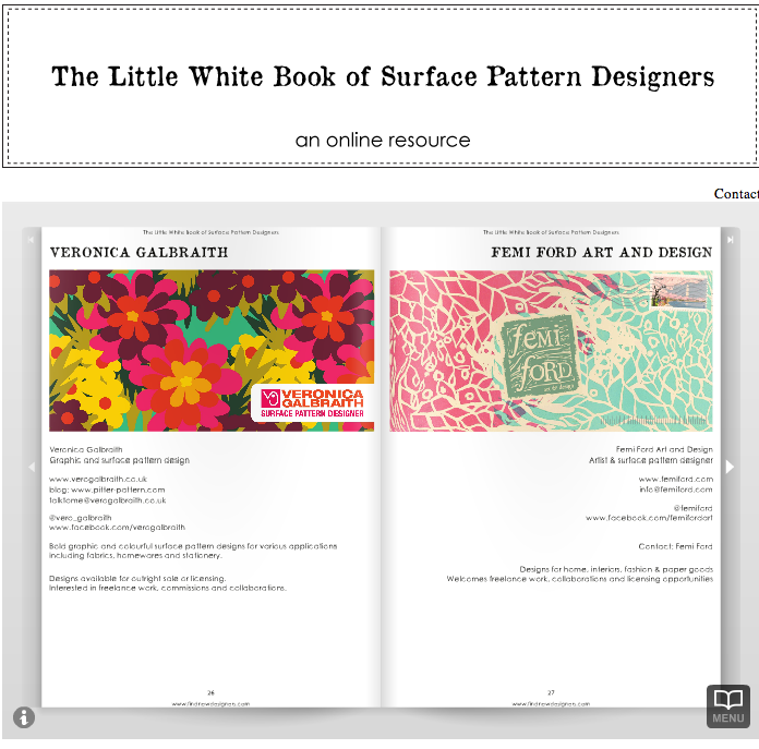 surface pattern design, julie hamilton