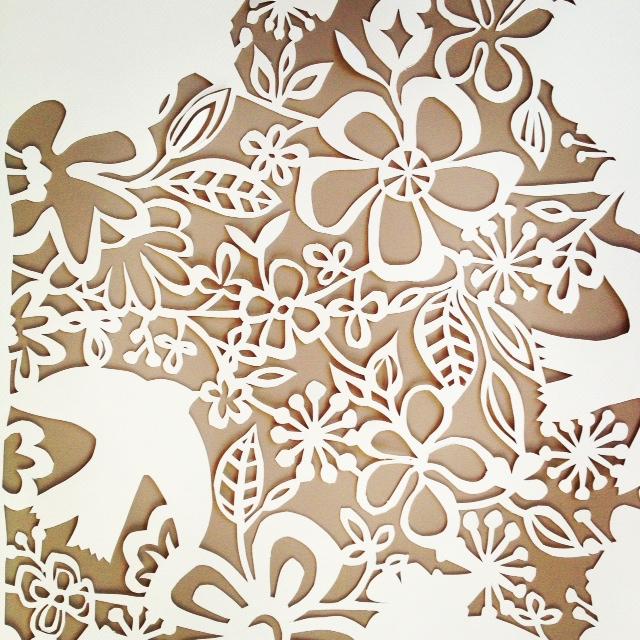 Wall Design Paper Cutting : Papercutting