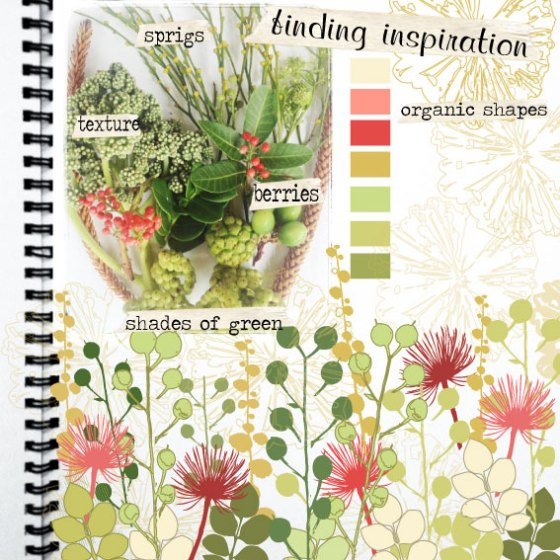 artistically afflicted blog~journal page-inspiration floral