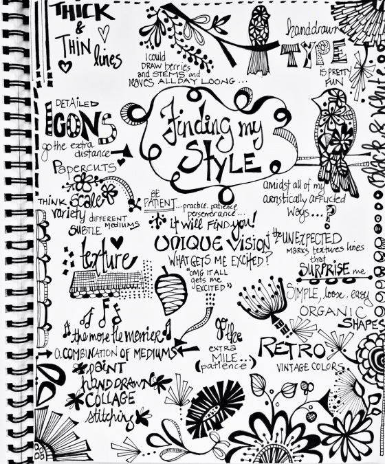 julie hamilton designs-art journal page