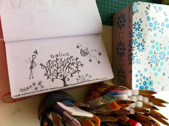 artistically afflicted blog-julie hamilton designs